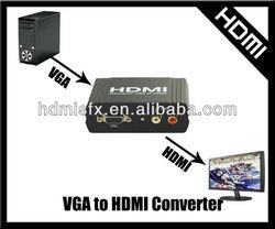 SFX black metal casing s-video vga rca to hdmi converter/adapter