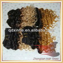 5A High Quality European Mixed Color Hair Two Tone Deep Wave