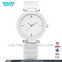 white ceramic watch/classic gorgeous ceramic women's watch