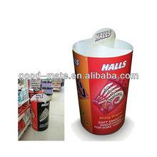 Round Cardboard Counter Display Stand, Cardboard Barrel