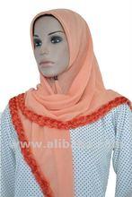 Borong Tudung Bawal Rose Lace 3D