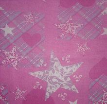 Pink Star Print Travel Bed Sheet Polar Fleece Print Blankets Adult Bedsheet Queen Size Home Bedsheet #4Y09179-2