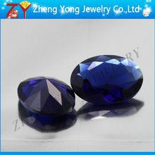 diamond cut glass gemstone blue sapphire stone