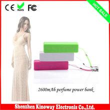 2600mAh keychain perfume power bank for macbook pro /ipad mini