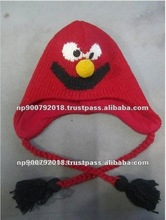 Plain Dyed Wool Knitted Children Hats