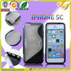 TPU + PC combo design case for iphone 5C,s line with kickstand design
