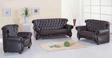 china antique leather sofa furniture, classic european style wooden furniture