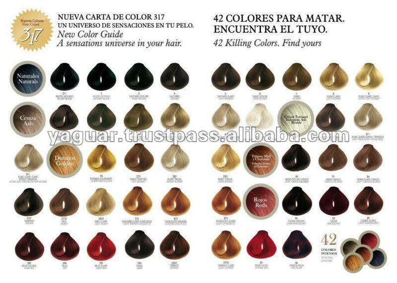 Carta De Colores 317 Tinturas Imagui