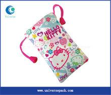 fashionable custom cotton cute phone bag