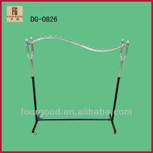 High quality supermarket&store 4 wheels heavy duty clothes rail/hardware display shelf & rack
