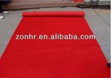 Plain red exhibition hall carpet, wedding stage carpet