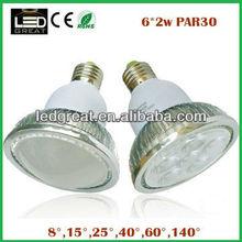 led par light par30 e27 6x2w with thin and light fin aluminum radiator