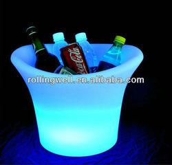 big cube led buckets,PE plastic led cube ice