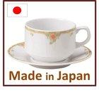 Japanese porcelain tea cup saucer 200cc Rosa