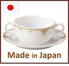 Japanese porcelain Bouillon cup saucer 200cc Rosa