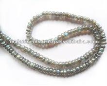 Natural Mystic Labradorite Coated Plain Roundel Loose Beads