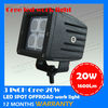 Cree 20w led work light ,led cube light for motor,off road work lamp