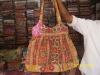 Indian Designer Fashion Bag made from Vintage Kantha Quilt Fabrics