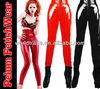 gothic sexy shinny glass four way stretch PVC Vinyl latex look lace up Legging celebrity tights pants