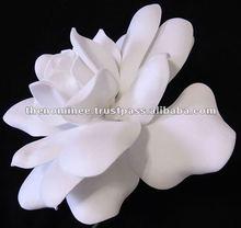 White Foam Decorative Artificial Gardenia Flowers
