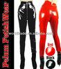 Fetish gothic sexy shinny glass four way stretch PVC Vinyl latex look zipper Legging celebrity tights pants