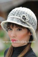 Hand made knitted wool hood