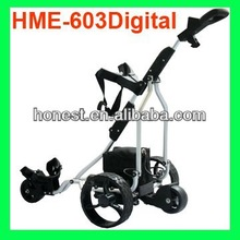 The finest light weight aluminum electric golf trolley with tubular motor (HME-603Digital)