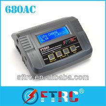Top sales FT680 AC & DC lipo Charger/Discharger 1-6 Cells 80 Watt 6 AMPS