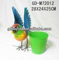 Animaux en métal pot de fleur/poubelle/poubelle
