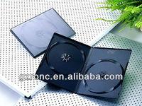 14mm black double DVD case