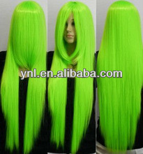 Long green cos cosplay full wig anime Party wigs