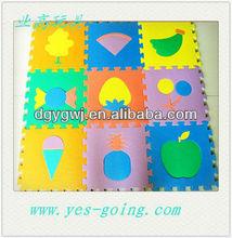 fruit logo good play eva toy foam mat puzzle for children