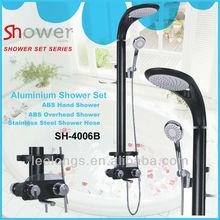 Aluminium Metal Rainfall bathroom shower faucet with water saving