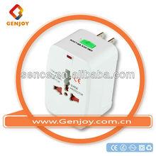 genjoy Factory Price Universal travel electrical adapter Plug Power Outlet Socket Adapter Converter US AU UK EU A0400.00