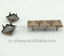 antique copper fashion garment metal square studs