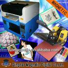 CE flatbed t-shirt printer/golf ball printer