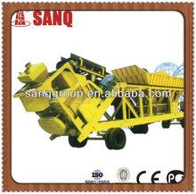 Environmentally friendly 50m3/h Portable Concrete Batching Plant Mobile Concrete Batching Mixing Plant Small Concrete Batching P