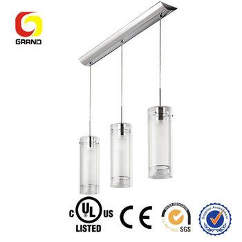 polished silver pendant light