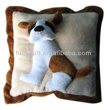 applique stuffed dog design cushion for sales