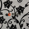 flocking faux linen fabric new design for sofa cover fabric