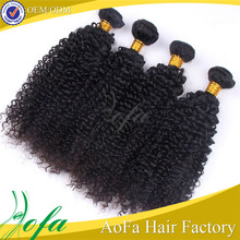 Cuticle intact bleached or dyed hair wet and wavy yaki human hair curly weave