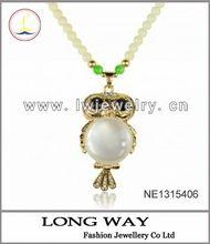 Peacock Feather Design Tassel Love Heart Key Retro Cooper Necklace Pendant B679K
