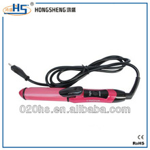 2013 Best spiral curlers/hair straightener iron titanium tourmaline
