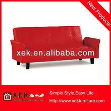 vermelho moderno moldura de madeira maciça e sofás de couro
