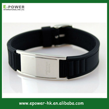 New Power Energy Scalar Ionic Training Silicon Band With Germanium, Far Infrared, Magnet and Negative Ion Stones