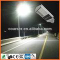 Residencial solar luz de rua com aço pólo diodo emissor de luz/energia solar da lâmpada de rua