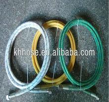 Fiber braided Teflon steam washer hose