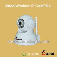1280*720P Megapixel Wireless/Wired IP Camera Audio,6mm lens,PTZ