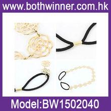 Rose flower mini elastic hair bands BW019