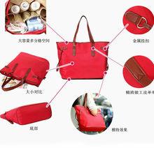 Cotton Canvas Nylon Fashion Diaper Bag Leather Mummy Bag Mum Fashion Handbags